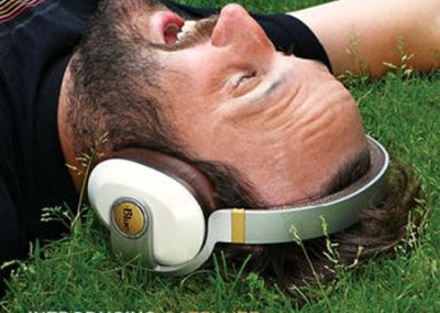 Blue Headphones   print